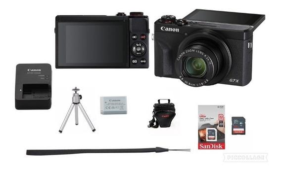 Canon Powershot G7 X Mark Ii +32g+bolsa+tripé