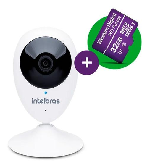 Câmera Ip Intelbras Ic3 Mibo Wifi Hd 720p + Cartão 32gb