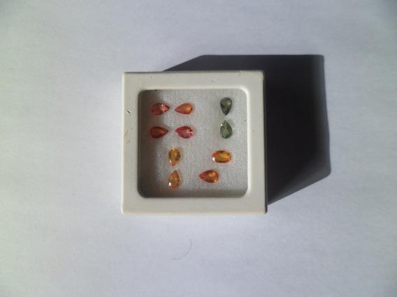 Safiras Amarelas, Laranjas E Verdes - Lapidações