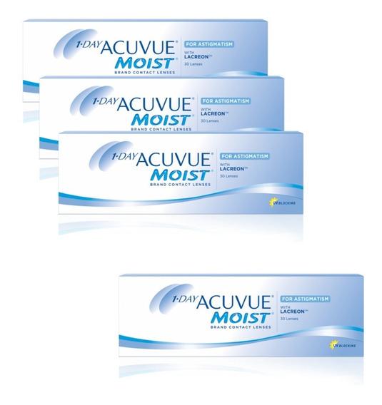 Lentes De Contacto Acuvue 1-day Moist 3+1 - Óptica Florida