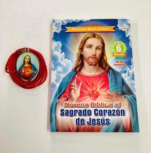 Novena Sagrado Corazón De Jesús Con Medalla En Acero