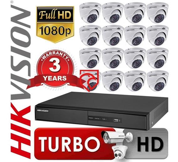 Kit Dvr Seguridad Hikvision 7216hghi 16ch + 16 Cam Martinez