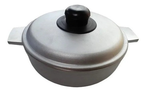 Caldero De Aluminio Pulido 20 Cm Con Tapa , Olla