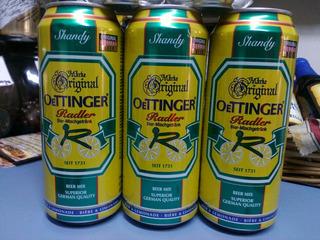 Cerveza Oettinger Radler Limon Importada Alemania Caballito