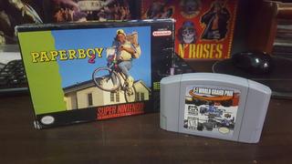 Juegos Paperboy 2 Super Nintendo Y F-1 World Grand Prix N64