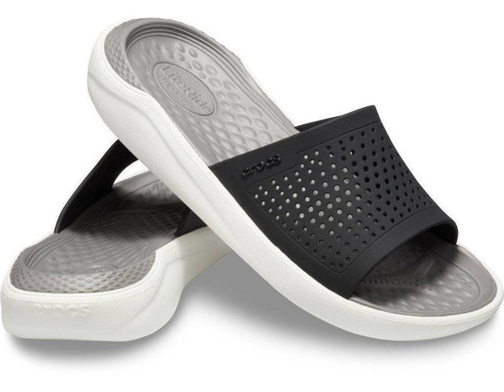 Crocs Literide Slide - Black Smoke