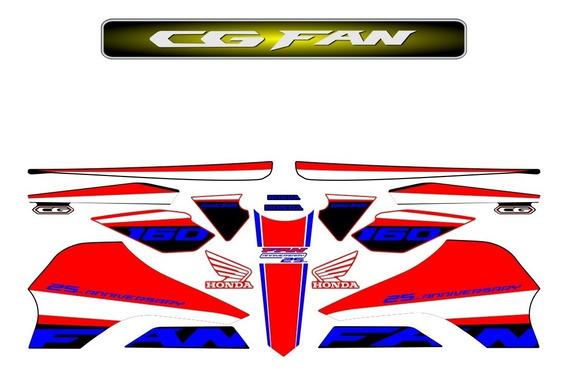 Adesivos Cg Titan 160 2016 A 2019 Edição Especial Anos Fan