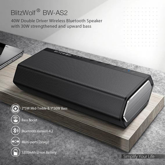 Caixa De Som Bluetooth Portátil 40w Blitzwolf Original