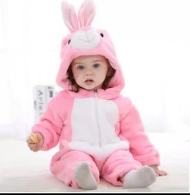Macacão Infantil Pelúcia Coelha. (importado)