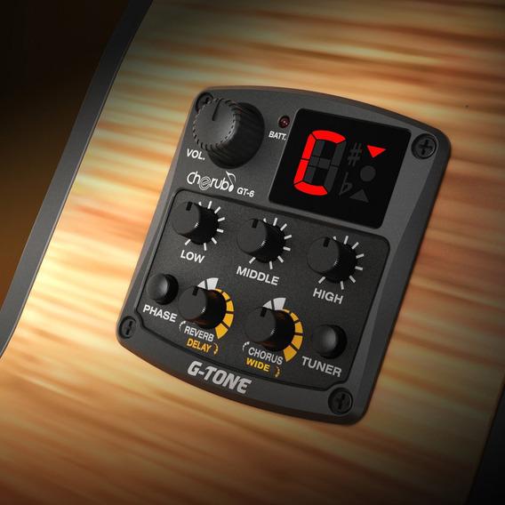Querubim G-tom Gt-6 Acústica Preamp Captador Piezo 3-band Eq