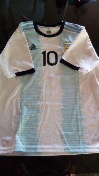 Camiseta De Argentina 2019 Talle Xl Estampado Messi 10