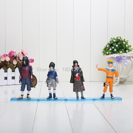 Kit 4 Bonecos Naruto Madara Sasuke Itachi Figura De Ação P.e