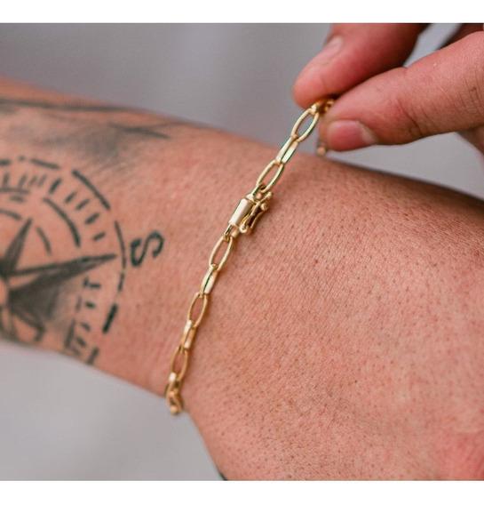 Pulseira Cana 5mm, Banhada A Ouro 18k