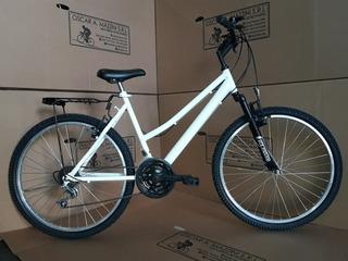 Bici Mtb Rod 26 Dama 18 Vel Con Susp Delantera,canasto,porta