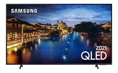 Imagem 1 de 7 de Smart Tv Samsung 50 Qled 4k Q60a Design Slim Visual Sem Cabo