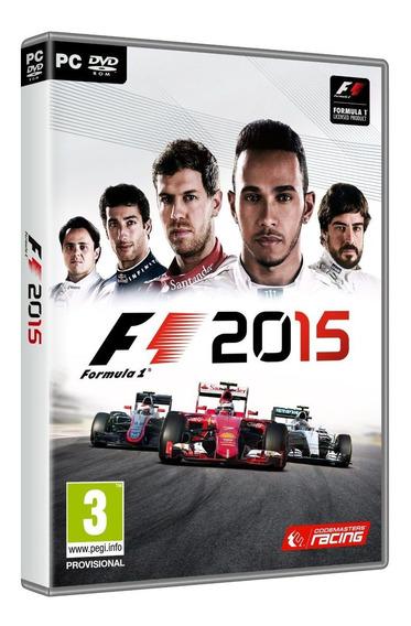 F1 2015 - Formula 1 2015 Pc Dvd Mídia Física - Frete 8 R$