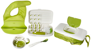 Oxo Tot On The Go Essentials Value Set Con Roll Up Bib Alim