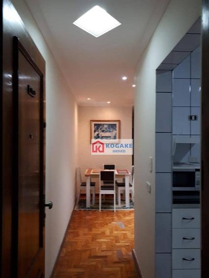 Apartamento Com 2 Dormitórios Para Alugar, 90 M² Por R$ 1.300,00/mês - Jardim São Dimas - São José Dos Campos/sp - Ap6969