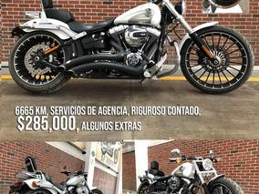 Harley Davidson Breakout Blanca Seminueva