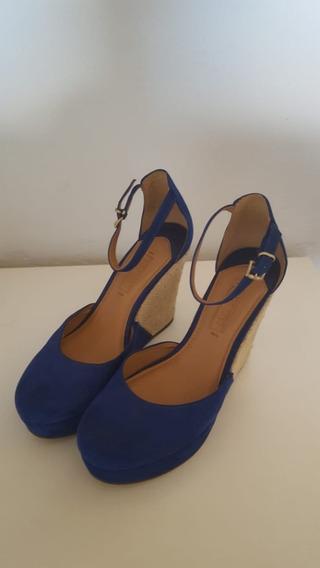 Sandália Plataforma Arrezo Azul - Super Nova
