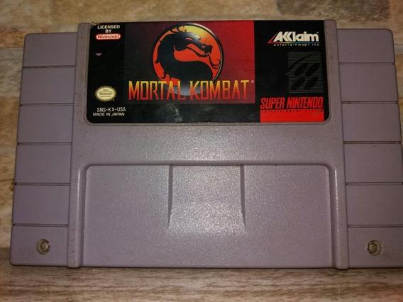 Mortal Kombat 1 Snes Original,mk Super Nintendo,cartucho Ok