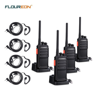 4 Pieces Walkie Talkie 16 Canales Floureon A5 Recargable