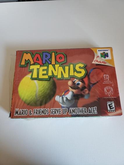 Mario Tennis N64 Na Caixa Ainda No Plástico