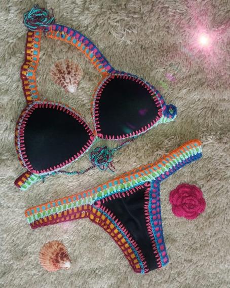 Biquíni De Crochê Moda Praia Tam P