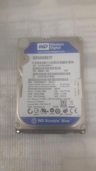 Hd 500gb Western Digital Wd500bevt P/ Notebook Funcionando