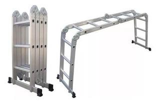 Escalera Andamio Aluminio 3.7 Mts 12 Escalones Oferta
