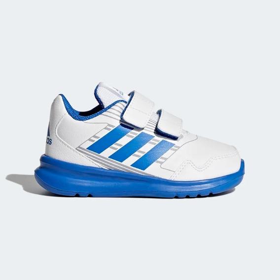 Tênis Infantil Original adidas Altarun Branco E Azul Ba9413