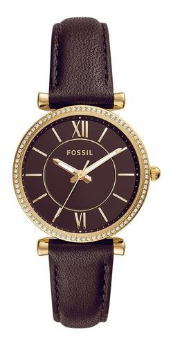 Reloj Dama Fossil Carlie Mini Es4699 Color Nude De Piel
