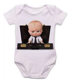 Body Infantil Roupa Bebê Bori Nenê Poderoso Chefinho Menino