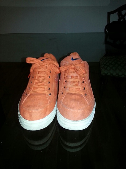 Zapatillas Nike Lona Casi Sin Uso Originales Usa Ultima Moda