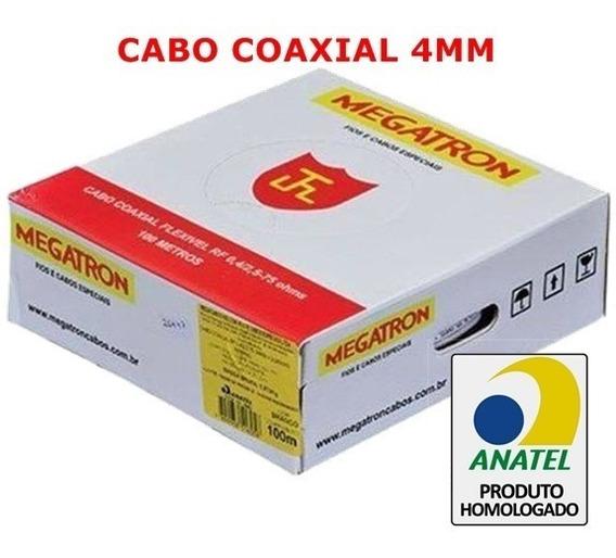 Cabo Coaxial 4mm P/ Câmera Cftv Flexível + Bipolar 2x26awg