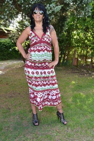 Vestido Largo Medio De Fibrana Diferentes Modelos La Plata