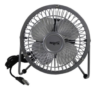 Ventilador Mini Metal Usb Ns-fanu Plateado - Nisuta