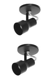 Kit 2x Spot Par20 Bulbo Led 525/1 Hiperlight Preto
