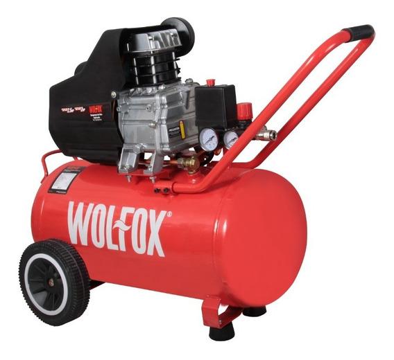 Compresor Aire Horizontal 2hp 40lt Lubricado Wf0627 Wolfox