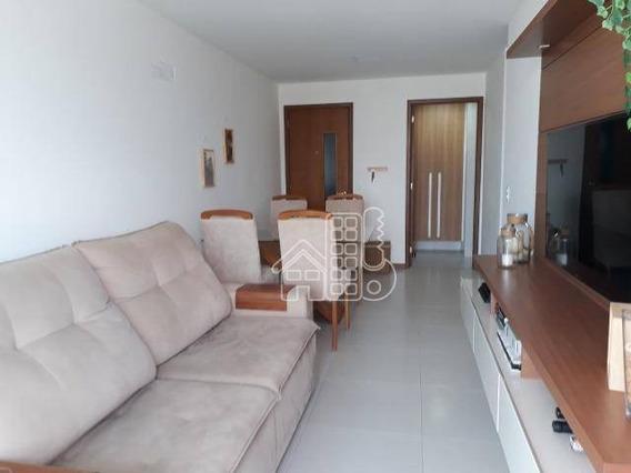 Apartamento Com 2 Dormitórios À Venda, 64 M² Por R$ 488.000 - Centro - Niterói/rj - Ap3176