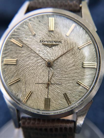 Relógio Longines Nível Omega Mostrador Raro Guillochê