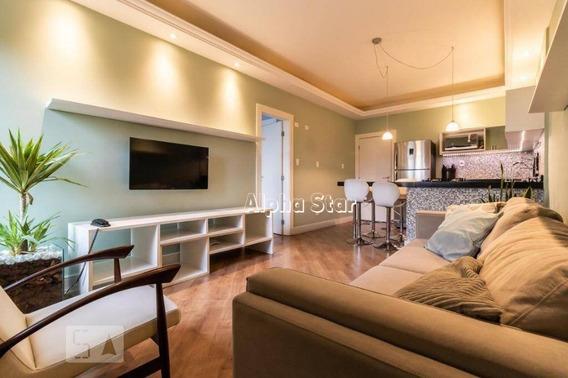 Flat Com 1 Dormitório Para Alugar, 56 M² Por R$ 4.000,00/mês - Edifício Bouganville - Barueri/sp - Fl0027