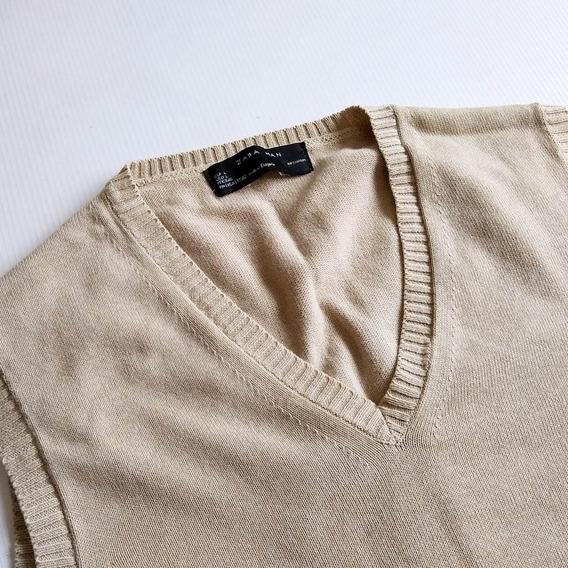 Pullover Para Caballeros Zara Man Original Beige Talla L