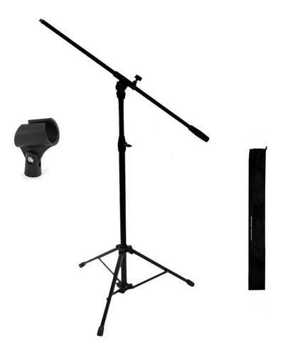 Pie Soporte De Microfono Metalico Y Abs Con Funda Y Pipeta