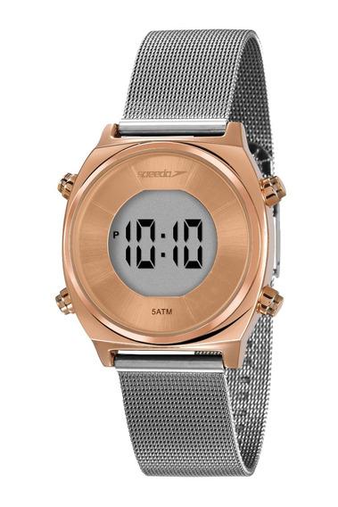Relógio Speedo Feminino Digital Prata Rosê