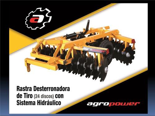 Rastra Desterronadora De Tiro (24disc) Sistema Hidraulico