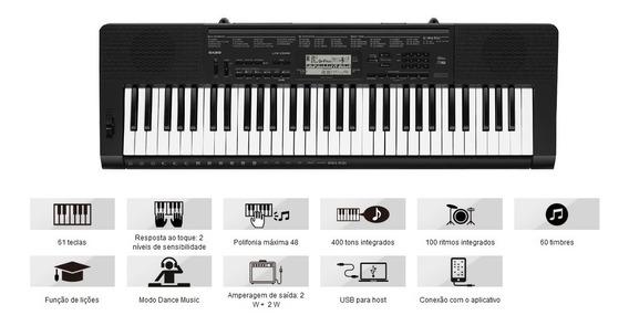 Teclado Casio Digital Ctk-3500 K2 - Br Musical Preto