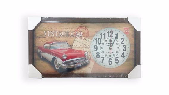 Relógio Parede Quadro Decorativo 26x50cm Moldura Madeira