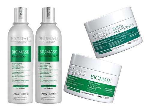 Botox Prohall Blend Repair 300g + Kit Hidratante Biomask