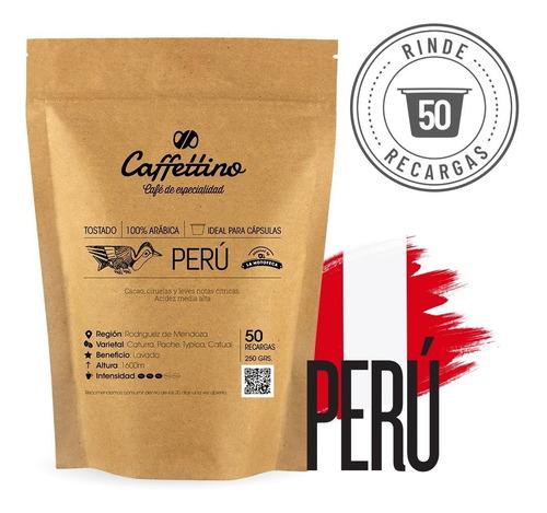 Imagen 1 de 9 de Café Perú Molido P/ Cargar 50 Cápsulas Caffettino Nespresso